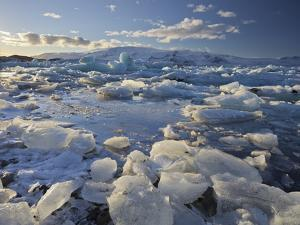 Icebergs in the Glacial River Lagoon Jškuls‡rlon (Lake), East Iceland, Iceland by Rainer Mirau