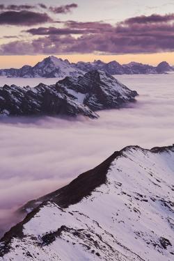 Italy, Lombardy, Stilfser Joch National Park, View from Monte Scorluzzo, Cresta Di Reit by Rainer Mirau