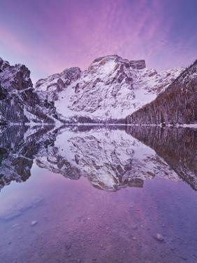 Italy, South Tyrol, Alto Adige, Pragser Wildsee (Lake), Natural Reserve of Fanes-Sennes-Prags by Rainer Mirau