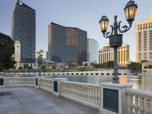 Lake Bellagio, Lantern, the Cosmopolitan Hotel, Strip, South Las Vegas Boulevard by Rainer Mirau