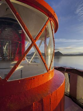 Light in the Lighthouse of Akranes (Town), West Iceland, Iceland by Rainer Mirau