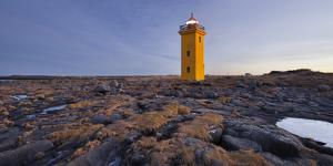 Lighthouse of Stafnes, Reykjanes (Headland), Iceland by Rainer Mirau
