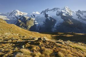 Lyskamm, Castor, Pollux, Breithorn, Gornergrat, Valais, Switzerland by Rainer Mirau