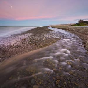 Maraetotara River Mouth in the South Pacific, Te Awanga, Hastings, Hawke's Bay, North Island by Rainer Mirau