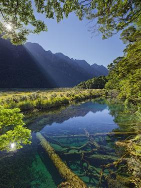 Mirror Lake, Fiordland National Park, Southland, South Island, New Zealand by Rainer Mirau