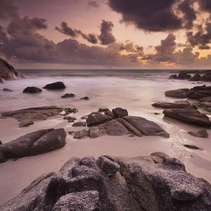 Morning Mood in the Thong Reng Beach, Island Koh Phangan, Thailand by Rainer Mirau