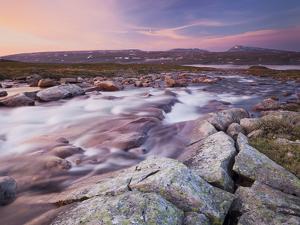 Norway, Northern Country, Saltfjellet Svartisen National Park, Luonosvagge, River Semska by Rainer Mirau