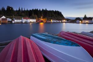 Norwegen, Vest Adger, Svin-R, Boote, D-Mmerung by Rainer Mirau
