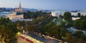 Parliament, City Hall, Burgtheater, Volksgarten, Doktor-Karl-Renner-Ring by Rainer Mirau