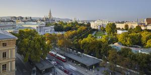 Parliament, City Hall, Burgtheater, Volksgarten, Ringstra?e, 1st District, Vienna, Austria by Rainer Mirau