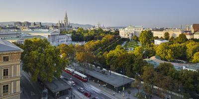 Parliament, City Hall, Burgtheater, Volksgarten, Ringstra?e, 1st District, Vienna, Austria