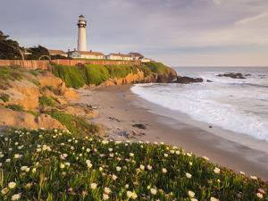 Pigeon Point Lighthouse, Cabrillo Highway 1, California, Usa by Rainer Mirau