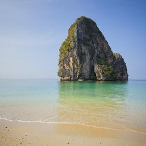 Rock at the Phra Nang Beach, Ao Nang, Krabi, Thailand by Rainer Mirau