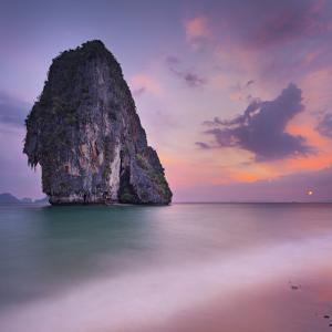 Rocks on the Phra Nang Beach, Evening Mood, Ao Nang, Krabi, Thailand by Rainer Mirau