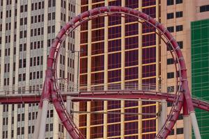 Roller Coaster, New York New York Hotel, Strip, South Las Vegas Boulevard, Las Vegas, Nevada, Usa by Rainer Mirau
