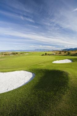 Scandinavia, Norway, Gimsoeya, Golf Course, Panorama by Rainer Mirau