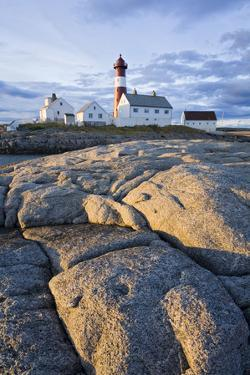 Scandinavia, Norway, Hamaroey, Tranoey, Lighthouse, Rock-Landscape by Rainer Mirau