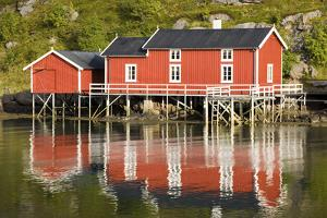 Scandinavia, Norway, Lofoten, Flakstadoey, Fisher-Alps, Shores by Rainer Mirau