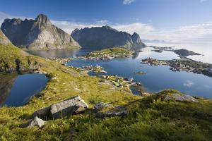 Scandinavia, Norway, Lofoten, Moskenesoey, Pure, Mountains, Fisher-Place, Panorama by Rainer Mirau