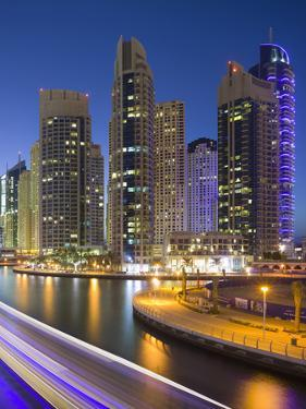 Skyscrapers, Dubai Marina, Dubai, United Arab Emirates by Rainer Mirau