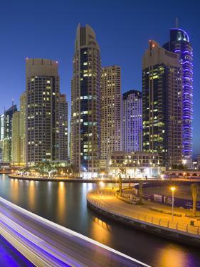 Skyscrapers, Dubai Marina, Dubai, United Arab Emirates by Rainer Mirau