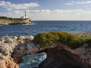 Spain, Majorca, East Coast, Lighthouse of Portocolom, Punta De S'Homonet by Rainer Mirau