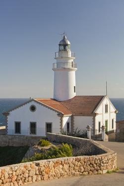 Spain, Majorca, Far De Capdepera, Lighthouse, Stone Wall by Rainer Mirau