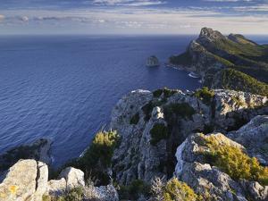 Spain, Majorca, Formentor Peninsula, Rock, the Mediterranean Sea by Rainer Mirau