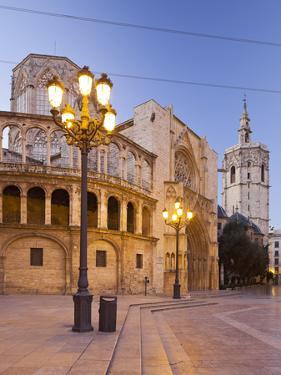 Spain, Valencia, Plaza De La Virgen, Catedral De Santa Mar'a De Valencia, Lantern by Rainer Mirau
