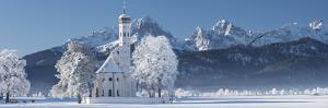 St. Coloman, Tannheimer Mountains, Allgau, Bavaria, Germany by Rainer Mirau
