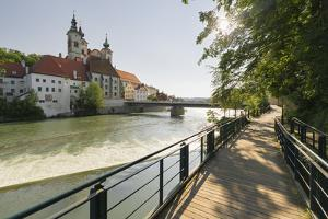 St. Michael's Church, River Steyr, Steyr, Austria by Rainer Mirau