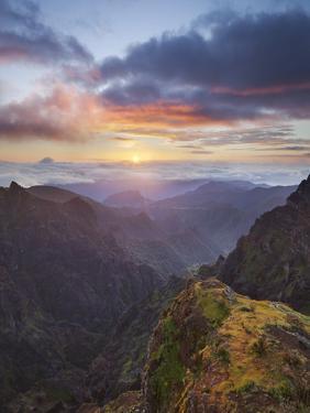 Sunrise at Miradouro Ninho Da Manta, Arieiro, Madeira, Portugal by Rainer Mirau