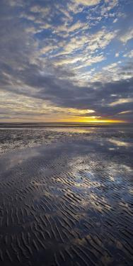 Sunrise in the Mudflat, Close to List (Municipality), Sylt (Island), Schleswig-Holstein, Germany by Rainer Mirau