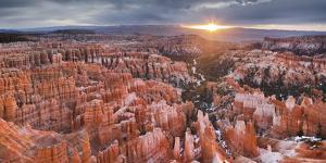 Sunset Point, Bryce Canyon National Park, Utah, Usa by Rainer Mirau