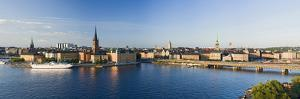 Sweden, Stockholm, City View, MŠlar-See, Panorama by Rainer Mirau