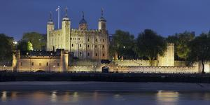 Tower of London, at Night, England, Great Britain by Rainer Mirau