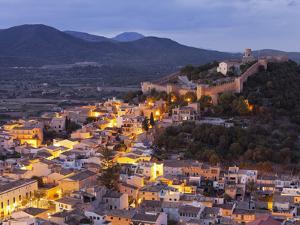 Town View of Capdepera, Evening, Majorca, Spain by Rainer Mirau