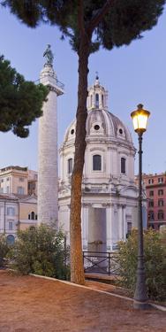 Trajan's Column, Church Ss. Nome Di Maria, Rome, Lazio, Italy by Rainer Mirau