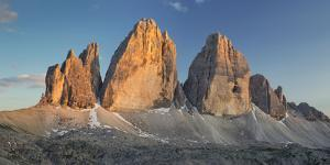 Tre Cime Di Lavaredo (Three Merlons), South Tyrol, the Dolomites Mountains, Italy by Rainer Mirau