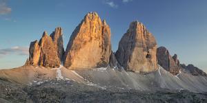Tre Cime Di Lavaredo (Three Merlons), South Tyrol, the Dolomites Mountains, Italy by Rainer Mirau
