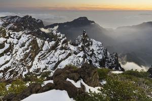 View of the Pico De La Cruz, Caldera De Taburiente, Island La Palma, Canary Islands, Spain by Rainer Mirau