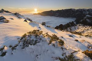 View of the Pico De La Nieve, Caldera De Taburiente, Island La Palma, Canary Islands, Spain by Rainer Mirau