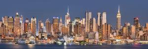 View to Manhattan of Hamilton Park, Hudson River, Jersey City, New Jersey by Rainer Mirau