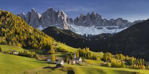 Villnšss Valley, Santa Maddalena, Geisler Group, Gruppo Delle Odle, South Tyrol by Rainer Mirau
