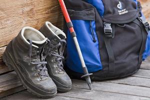 Walking Boots, Backpack, Hiking Sticks by Rainer Mirau