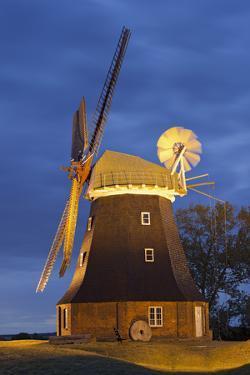 Windmill by Stove, Mecklenburg-Western Pomerania, Germany by Rainer Mirau