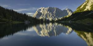 Zugspitze, Seebensee, Miemingen Mountains, Tyrol, Austria by Rainer Mirau
