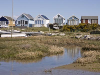 Beach Huts on Mudeford Spit or Sandbank, Christchurch Harbour, Dorset, England, United Kingdom by Rainford Roy