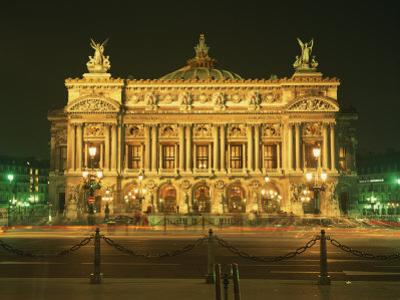 Facade of L'Opera De Paris, Illuminated at Night, Paris, France, Europe by Rainford Roy