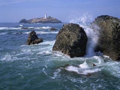 Godrevy Point Lighthouse, Cornwall, England, United Kingdom, Europe by Rainford Roy